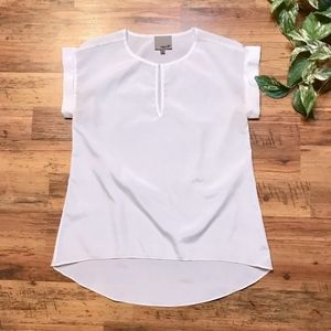 Aryn K. White Short Sleeve Blouse